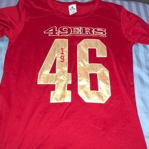 Red San Fran 49ers shirt